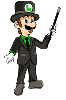 Luigi Looking Fancy by MissLink8908