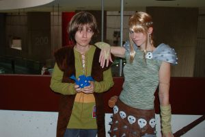 Astrid and Hiccup by Melima51