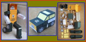 Autobot Minicar BRAWN Season 1 made in cardboard by Paperman2010