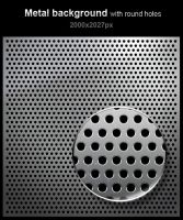 Free metal background with round holes by imonedesign