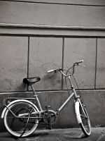 Bike against wall Italy by slcrawford