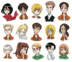 attack on titan by PastelPyre