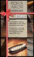 Gift card ad by HWO