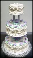 White Wedding Cake by theshaggyturtle