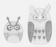 Hoot Hoot and Noctowl by stefania-zee