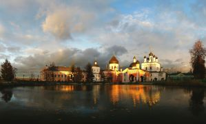 the evening monastery by Nickdan