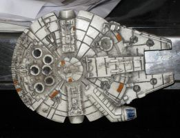Millenium Falcon Magnet by TimBakerFX