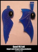 good vs evil pendants by Dans-Magic