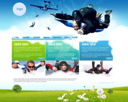 skydiving webdesign by Magdusia