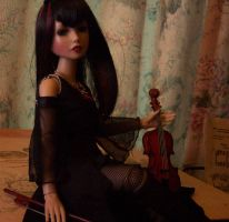 Delilah Noir with her Violin by terrya7