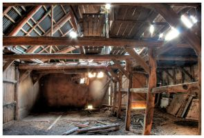 inside the shed HDR by teuphil