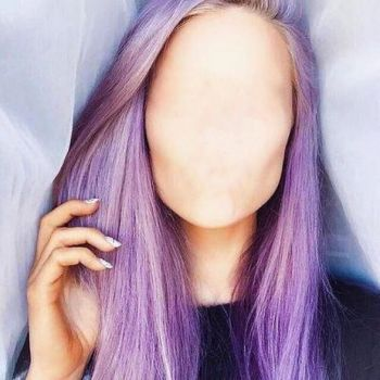 Faceless Girl Long Purple Hair by Gunner660