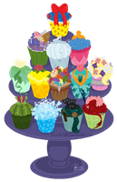 The Princess Cupcake Collection by Tella-in-SA