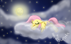 Sleeping  Fluttershy by TSupirka