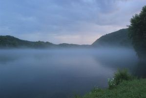 Mist of the Little Tennessee - July 2014 by CrystalMarineGallery