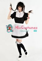 Classic Japanese Maid Cotton Costume by miccostumes