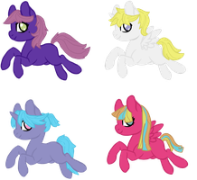 Foal adopts 2/4 OPEN by InuLover097