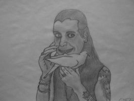 Ozzy Osbourne Caricature by TheCrimsonCrow