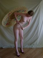 Nude With Parasol 8 by chamberstock