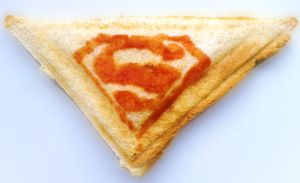 Superman - Cheese Toastie by mikedaws