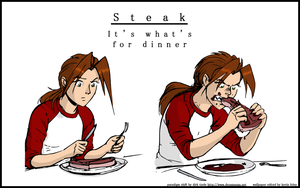 Steak by thelonesoldier