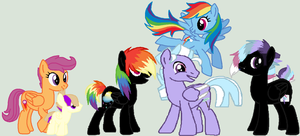 Rainbow Family by wolvesanddogs23