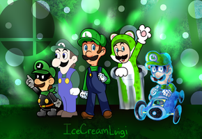 SSB Wii U/3DS: Mega Man Final Smash in Luigi Style by IceCreamLink