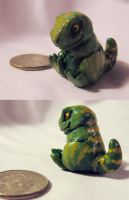 Capsule Prise- Tiny Dino by please-insert-coins