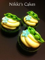 Two Peas in a Pod Cupcakes by Corpse-Queen