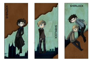 SHERLOCK bookmarks by Dr-Nell