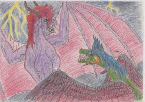 battle of the gods by Marl1nde