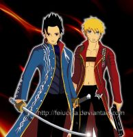 Naruto meets Devil May Cry by Feiuccia