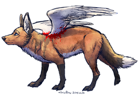 to fly by Canis-ferox