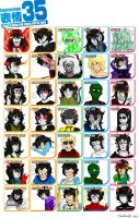 35 Expression Meme Homestuck by Toadiko25
