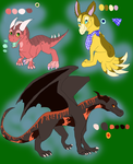 Three auctionssss?? XD by iiDragonfantasyArt