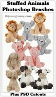 Stuffed Animal Photoshop Brushes By ibjennyjenny by ibjennyjenny