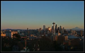 Seattle at Dusk by MandarinManMark