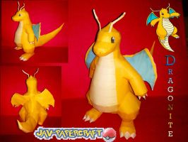 dragonite papercraft finished by javierini