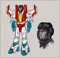 Starscream - Pre-war re-design by shibara-draws-mecha
