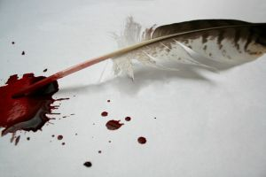 ...written with his own blood by Janina-Photography