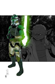 ...CC-1004 and Yoda... by thesealord