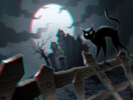 Spooky Kitty 3-D conversion by MVRamsey