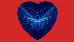 Heart Biue on Red by Gipgm2