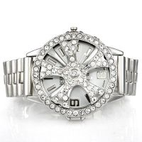 Platinum Diamond Studded Spinner Watch by MarcusMcCloud100