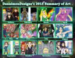 DannimonDesigns 2015 Summary of Art by DannimonDesigns
