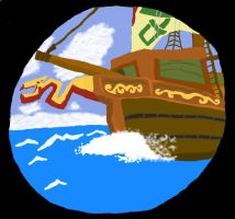 Pirate Ship by mordrelupis