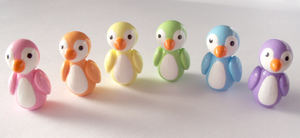 A Rainbow of Pastel Penguins! by MariposaMiniatures