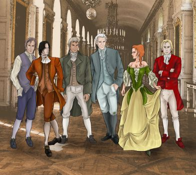 My 18th century characters by Jafean