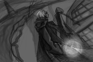 It's Spinner's End, Draco by katigerclaw