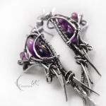 IRMILDARH - silver and amethyst ( earrings ) by LUNARIEEN